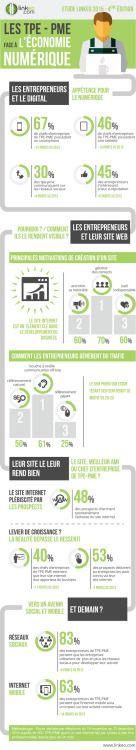 Les TPE-PME face à l'économie numérique (TPE et PME ayant un site internet réalisé par Linkeo) #TPE #PME #digital viaecommercemag