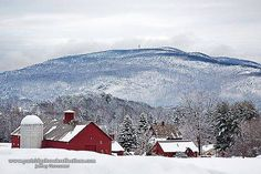 Here is a peaceful image of Brattleboro, Vermont with New Hampshire in the distance