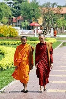 Monks in Phnom Penh, Cambodia Phnom Penh, Angkor, Theravada Buddhism, Tonle Sap, Monuments, Khmer Empire, The Monks, Beautiful Pictures, Places