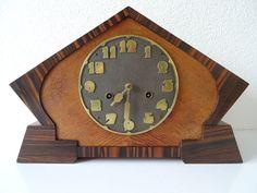 Junghans Antique German WW2 Württemberg Shelf Mantel Art Deco Clock Hermle Era   eBay