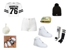 """""""for me"""" by niah123bestie on Polyvore featuring Boohoo, NIKE, Victoria's Secret PINK, Jordan Brand and Charlotte Russe"""