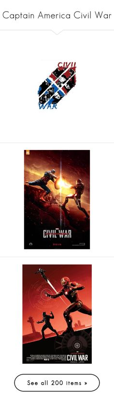 """""""Captain America Civil War"""" by saffire9975 ❤ liked on Polyvore featuring marvel, captain america, delete, draw, home, home decor, wall art, civil war posters, captain america poster and avengers"""