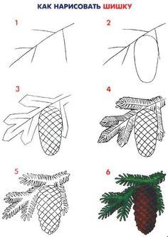 Tree Drawings Pencil, Small Drawings, Art Drawings For Kids, Art Drawings Sketches Simple, Realistic Drawings, Drawing For Kids, Animal Drawings, Easy Drawings, Easy Flower Painting