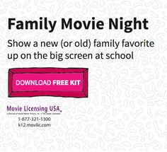 Host a family night for parents and kids to spend time together watching a favorite movie with snacks, games, and other fun activities!