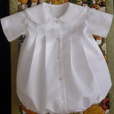 6 - 9 Mos Ready To Ship Baby Boy Christening, Dedication and Baptismal Bubble