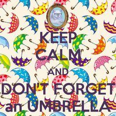 and don't forget an umbrella / e não esqueça um guarda-chuva