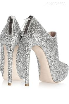 Shop Preety Sivel Platform Stiletto Heels Prom Shoes on sale at Tidestore with trendy design and good price. Come and find more fashion Prom Shoes here. Sparkly Heels, Prom Heels, Glitter Shoes, Silver Heels, Silver Glitter, Pretty Shoes, Cute Shoes, Me Too Shoes, Bootie Boots