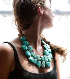 Big, chunky necklaces.  Found @kristinbartlett on Etsy.