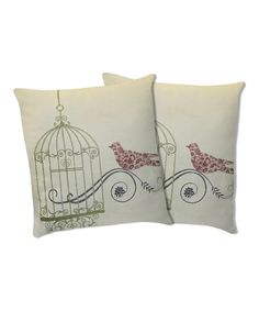 Take a look at this Green Dream Bird Throw Pillow - Set of Two by Lush Décor on #zulily today!