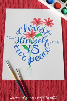 A constant reminder of where to find peace. #scriptureart #bibleverse Bible Verse Wall Art, Scripture Art, Bible Verses, Christian Cards, Christian Gifts, Christian Apparel, Watercolor Lettering, Hand Lettering, Cool Gifts For Teens