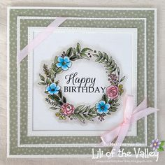 Scrapcards by Marlies Distress Ink, I Card, Card Making, Happy Birthday, Lily, Frame, Blog, Crafts, Inspiration