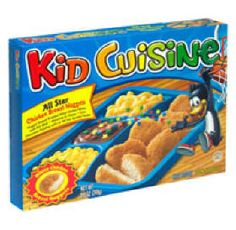 Kid Cuisine...amazing when you're an actual kid, disappointing when you're an adult. Mixing the chocolate pudding and corn together still tastes good though :D
