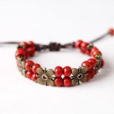 The Newest Fashion Ethnic Colored Beads Ceramic Bracelets Bohemia Charm Bracelet Fashion Jewelry Nickel