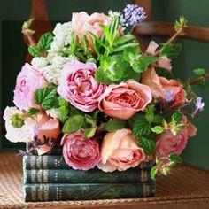 flowers and books!