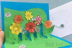 3D Flower Card for Mother's Day - super easy to make