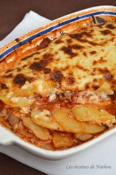 Moussaka, Cuisine Diverse, My Best Recipe, Chorizo, Vegetable Recipes, Macaroni And Cheese, Easy Meals, Good Food, Food And Drink