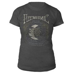 Charcoal Heather, 100% cotton ladies tee with lyrics and art from the song 'Sisters Of The Moon' printed on the front.