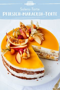 Pfirsich-Maracuja-Torte This beautiful peach and passion fruit cake is fruity and delicious. With a beautiful peach and passion fruit mirror, the cake will surely delight everyone! Healthy Dessert Recipes, Baby Food Recipes, Smoothie Recipes, Cake Recipes, Desserts, Brownie Recipes, Recipes Dinner, Pasta Recipes, Crockpot Recipes