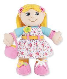 Dress me Emily - Toys 2 Learn   15-inch plush doll features 10-learn-to-dress activities. Removable clothes, Hook-and-loop closure, Snap, Lace, Buckle, Tie and More! Soft and cuddly body. Includes play accessories.  $29.95