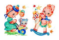 Home sweet hom printable vintage greeting card 40 ideas Kitsch, Vintage Nursery, Vintage Birthday, Vintage Greeting Cards, Vintage Images, Retro Images, Collage Sheet, Baby Quilts, Cute Art