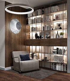 "Apartament 3 camere - Complex ""Nordis"" București - Creativ-Interior Interior, Shelving, Minimalism, Creative, Modern, Design, Home Decor, Granite Counters, Shelves"