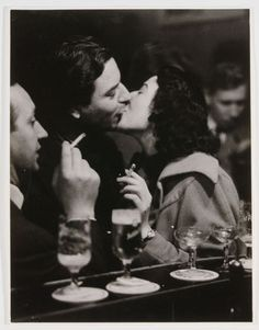 """ Chargesheimer, At the Bar-Kissing Couple, Cologne, 1956 """