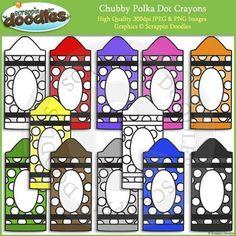 FREE Chubby Polka Dot Crayons