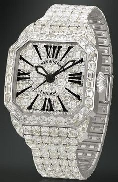 #chronowatchco Cartier Diamond Watch.