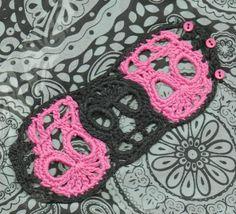 PDF File Trio Day of the Dead Sugar Skull Crochet von spidermambo