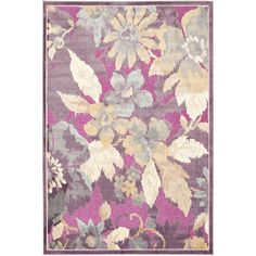 Make any space livelier with this floral area rug. This powerloomed transitional rug is made of viscose, which enhances its strength and makes it soft to the touch. It has hues of purple, cream, blue, and beige, so it is also easy to match.