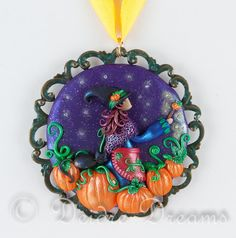 Hey, I found this really awesome Etsy listing at https://www.etsy.com/listing/99279113/witch-pendant-pumpkin-pendant-wiccan