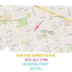 Way to go! raw Food Summer Festival London www.yuugakemistri.com