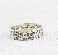 Personalized Ring - Sterling Silver Ring