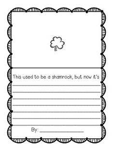 Hope you enjoy this fun little one page freebie for St. :) Or any day in March! The Hands-On Teacher in First! School Holiday Activities, Holiday Classrooms, Activities For Teens, Writing Activities, Writing Lessons, Teaching Writing, Student Teaching, Teaching Resources, First Grade Writing
