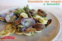 Orecchiette con vongole e broccoli, un primo piatto di pesce davvero gustoso anche se l'abbinamento vongole e broccoli può sembrare insolito. La ricetta è..