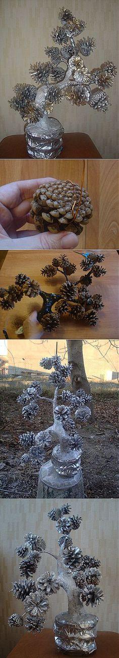 Дерево из шишек.