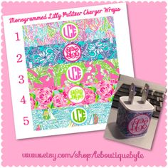 Hey, I found this really awesome Etsy listing at https://www.etsy.com/listing/212586242/lilly-pulitzer-monogrammed-phone-charger