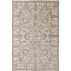 %560  ecarpetgallery Hand-knotted Royal Ushak Grey Wool Rug (6' x 9'). Get free shipping at Overstock.com - Your Online Home Decor Outlet Store! Get 5% in rewards with Club O! - 21176195