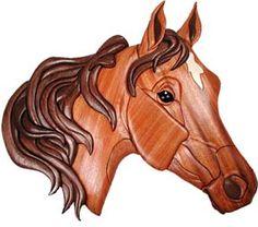 Arab Horse Intarsia Pattern