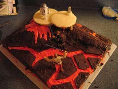 Star Wars Cake (Mustafar) tutorial @Katerina Andrikopoulou Höglund till villes kalas kanske?