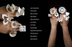 all-year-ring-by-tithi-kutchamuch---- Designers Tithi Kutchamuch and Nutre Arayavanish of TT:NT have designed a range of fold-out paper jewellery