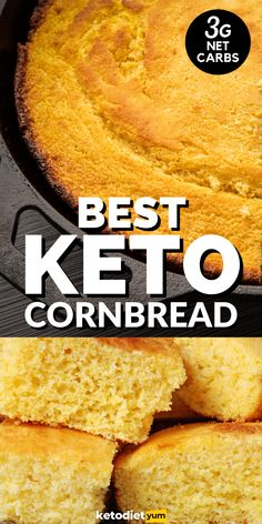Keto Cornbread That Tastes Great! Check out how we love to whip up some top-tier keto cornbread that tastes – if we do say so ourselves – better than the original thing!