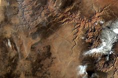 Grand Canyon photographed from orbit