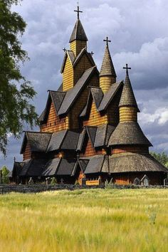 NORWAY - influence of Viking architecture on orthodox churches / Heddal stave church in Notodden municipality in Telemark County, Norway Places Around The World, Oh The Places You'll Go, Places To Visit, Around The Worlds, Beautiful Architecture, Beautiful Buildings, Architecture Design, Church Architecture, Temples
