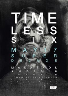 poster | Time Less 6   #typography