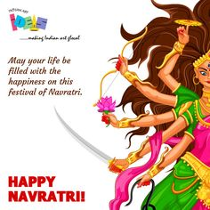 #IndianArtIdeas wishing you a very Happy Navratri! May your life be filled with happiness on this pious festival of #Navratri!