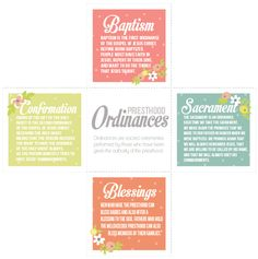 All Things Bright and Beautiful: Come Follow Me: Ordinances