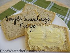 Simple Sourdough Bread Recipe. A very simple and basic recipe for beginner sourdough bakers - easy instructions and just one rise.
