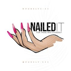 Pre-Made Nails Nail Tech Hand Coffin Shape Beauty Bar Salon Acrylic Gel Nails Technician Cosmetologist Logo Diamond Rhinestones Sparkle