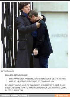 """THATS WHAT IT ENDED UP BEING LIKE WHEN SHERLOCK COMFORTED JOHN IN """"THE LYING DETECTIVE""""! DON'T TOUCH ME I'M DYING"""